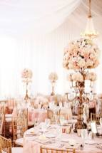Large romantic pink centerpieces for wedding