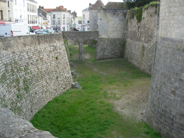 medieval castle dry moat