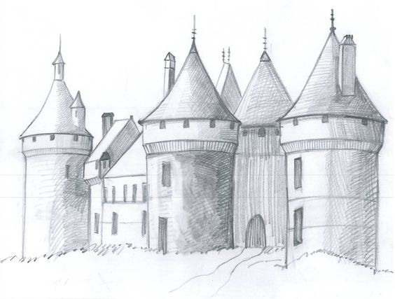 how to draw a fantasy castle