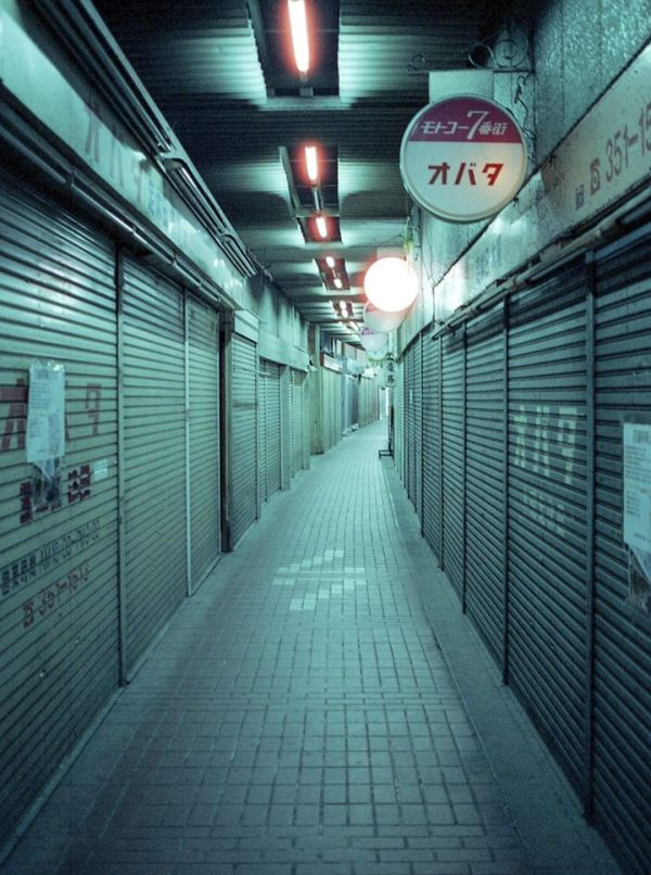 Street with only closed shops