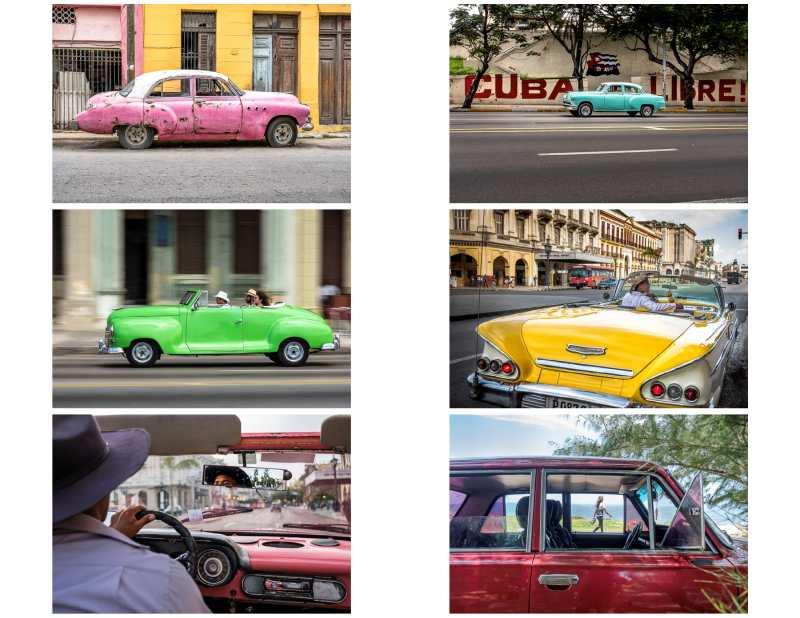 contact sheet - cars in Cuba