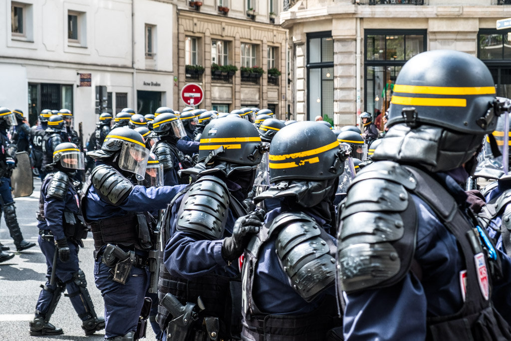 Riot police in Paris