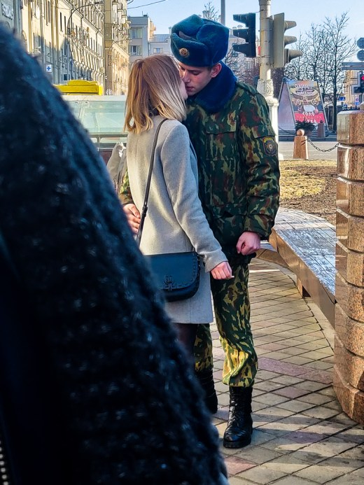 Military and his wife, Minsk