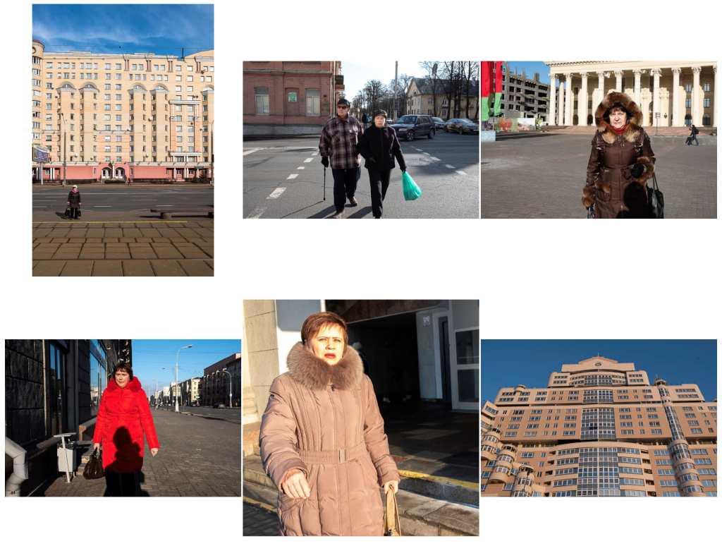 People and buildings in Minsk Belarus