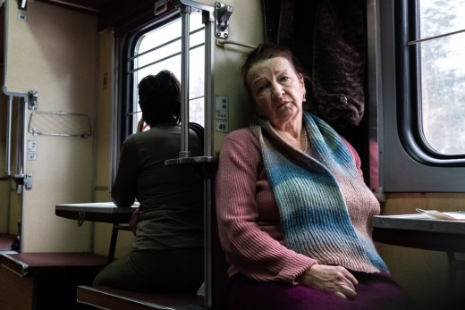 A Belarusan woman in a train