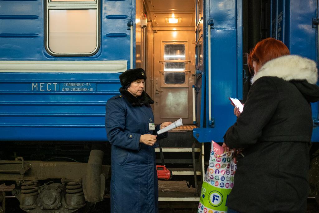 Train in Belarus