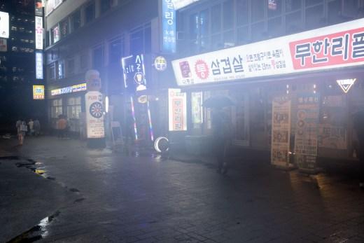 Foggy nightscape