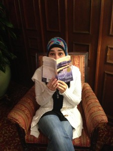 My good friend Haneen surprised at a book's diversity.