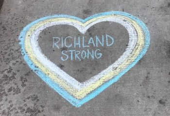 Richland Strong chalk art