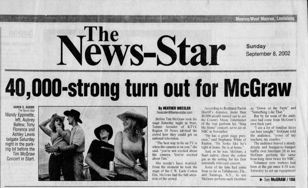 Live from Start, LA | Tim McGraw, 2002