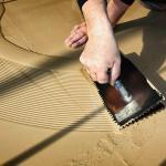 Bodenarbeiten mit Kelle