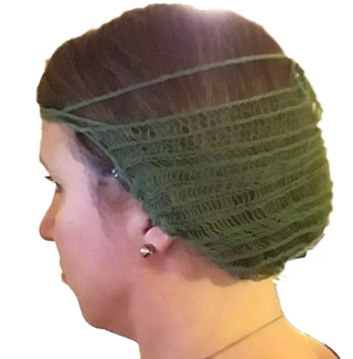 Reconstruction of the Borum Eshøj hairnet and the way it was worn. From