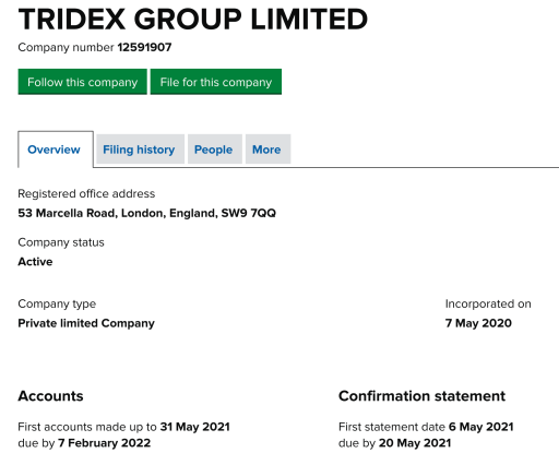 TRIDEX GROUP LIMITED