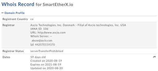 Smart Ether domain