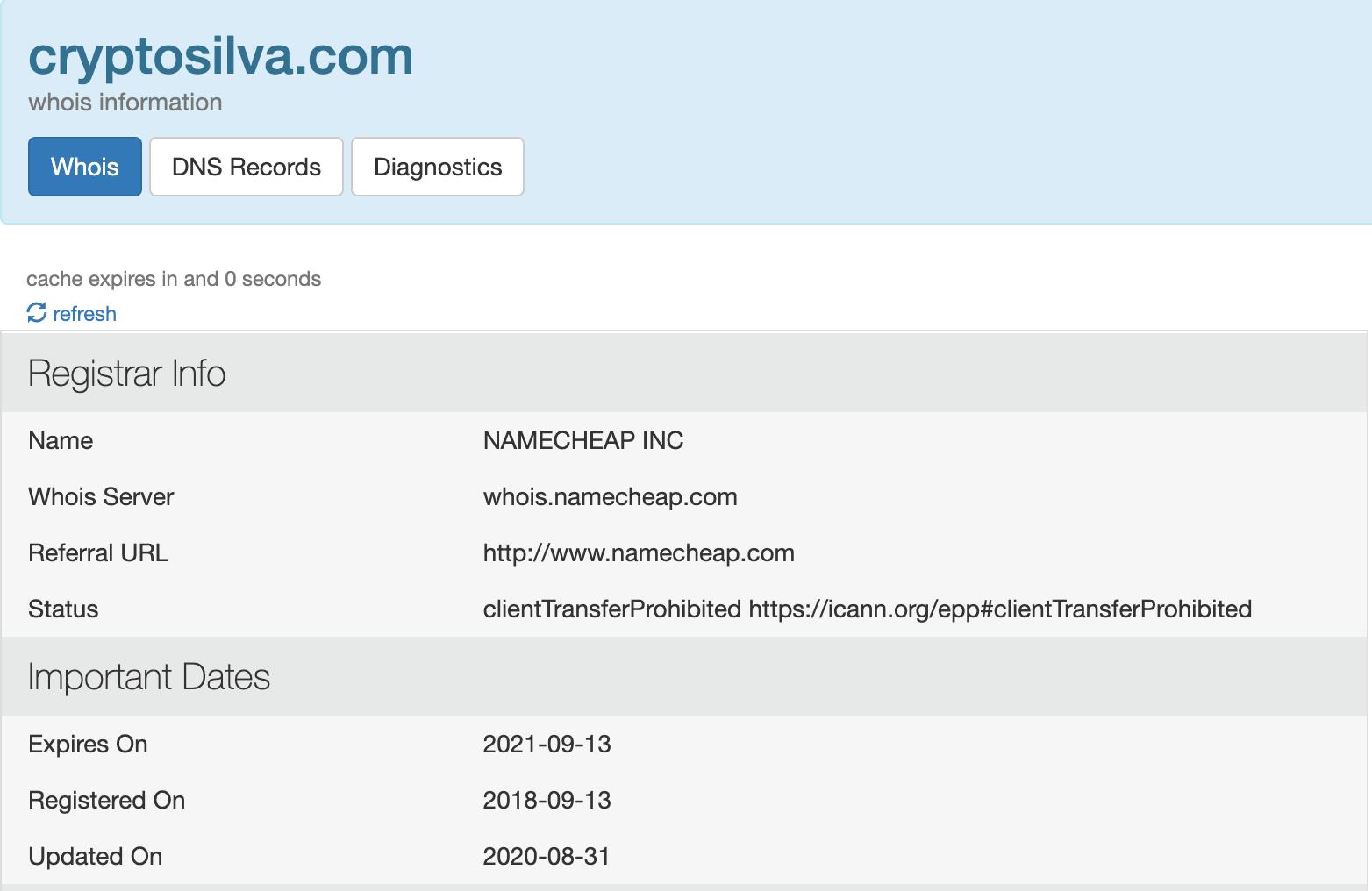 Crypto Silva Domain