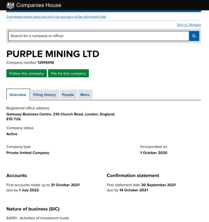 Purple Mining Registration