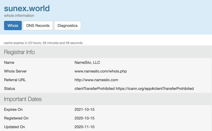 SUNex world domain