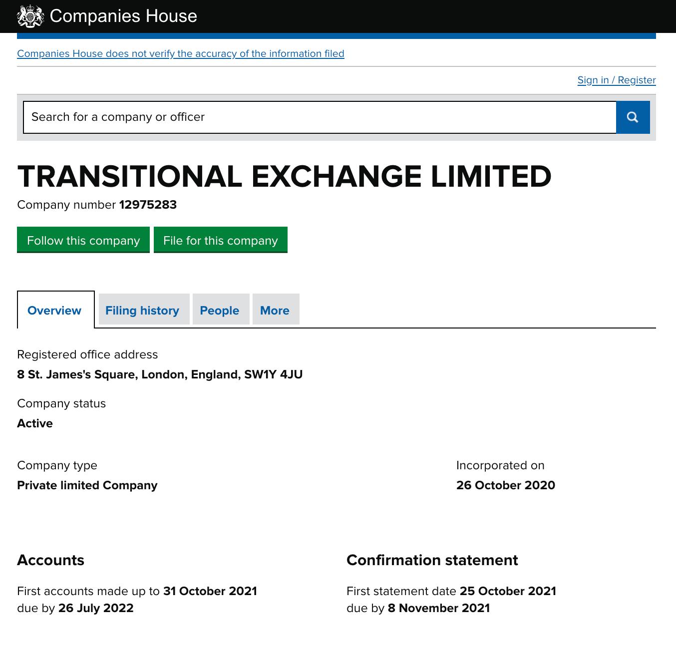 Trandex registration