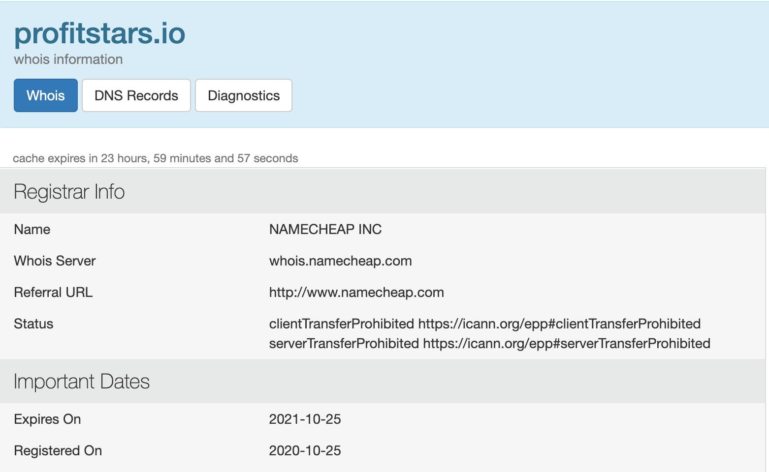 ProfitStars.io domain