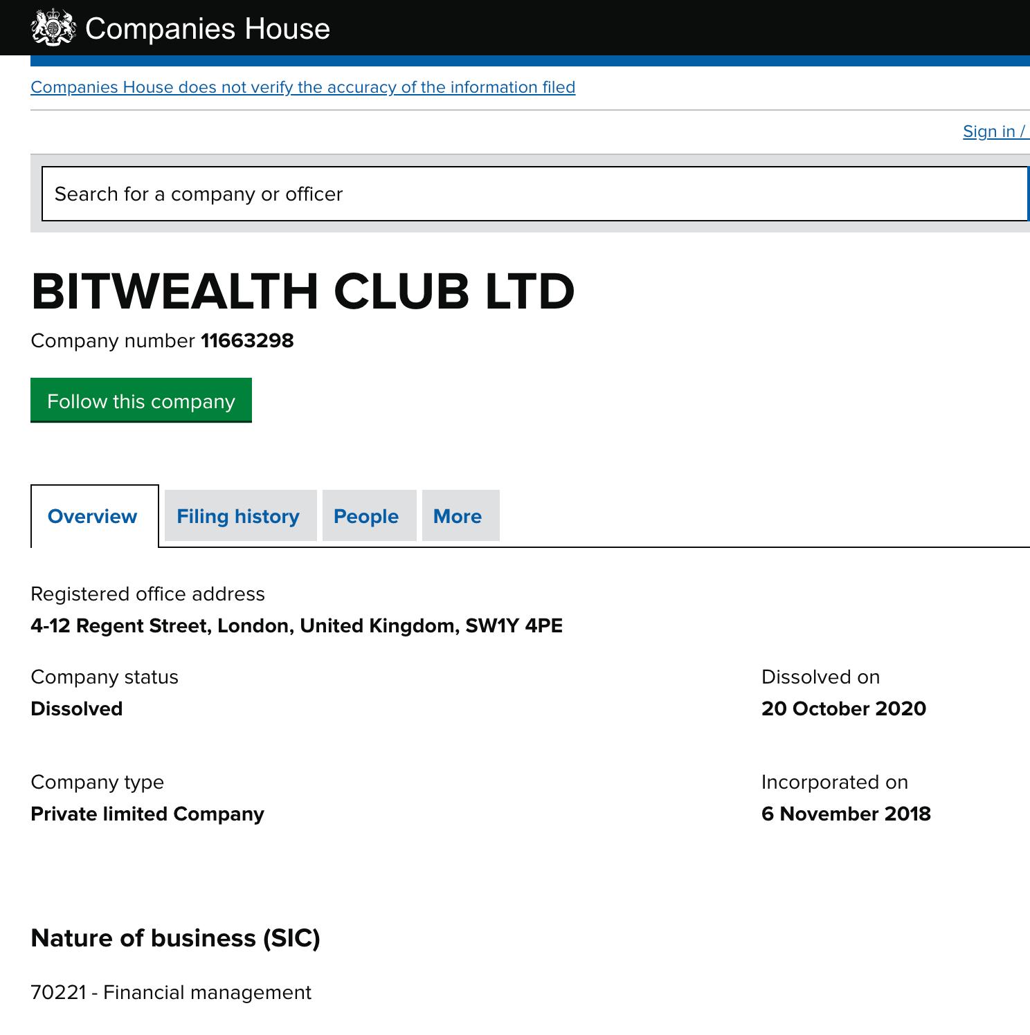 Bitwealth Club LTD