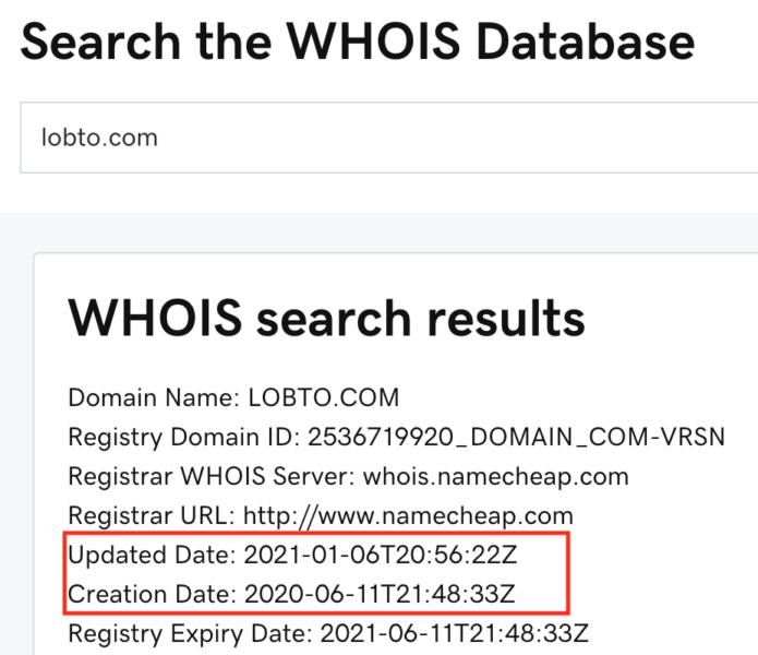 Lobto.com domain