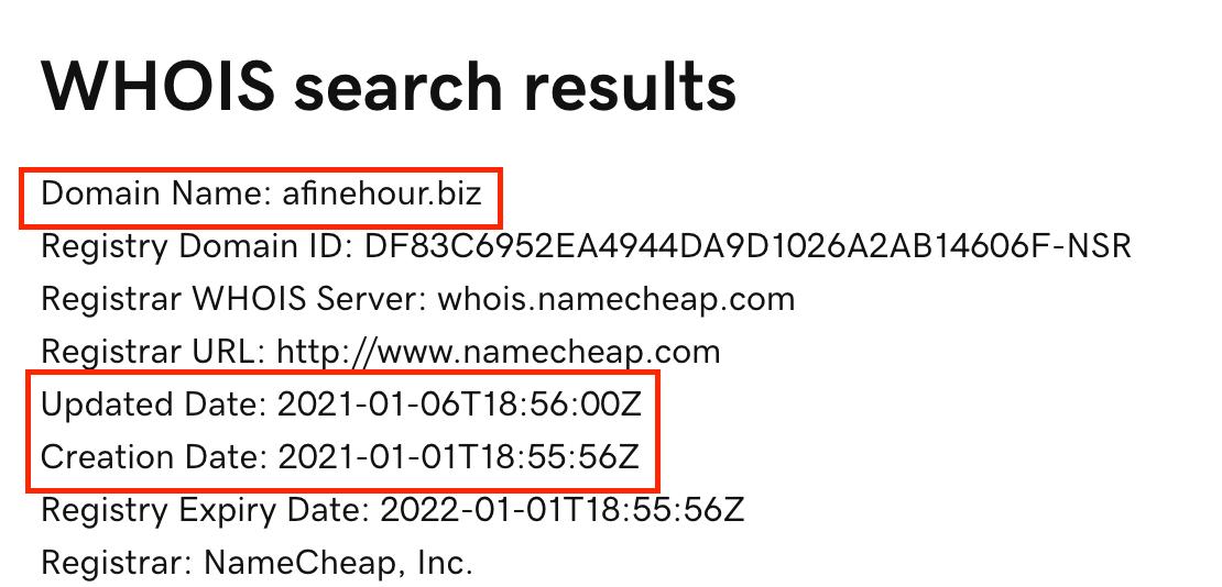 afinehour.biz domain
