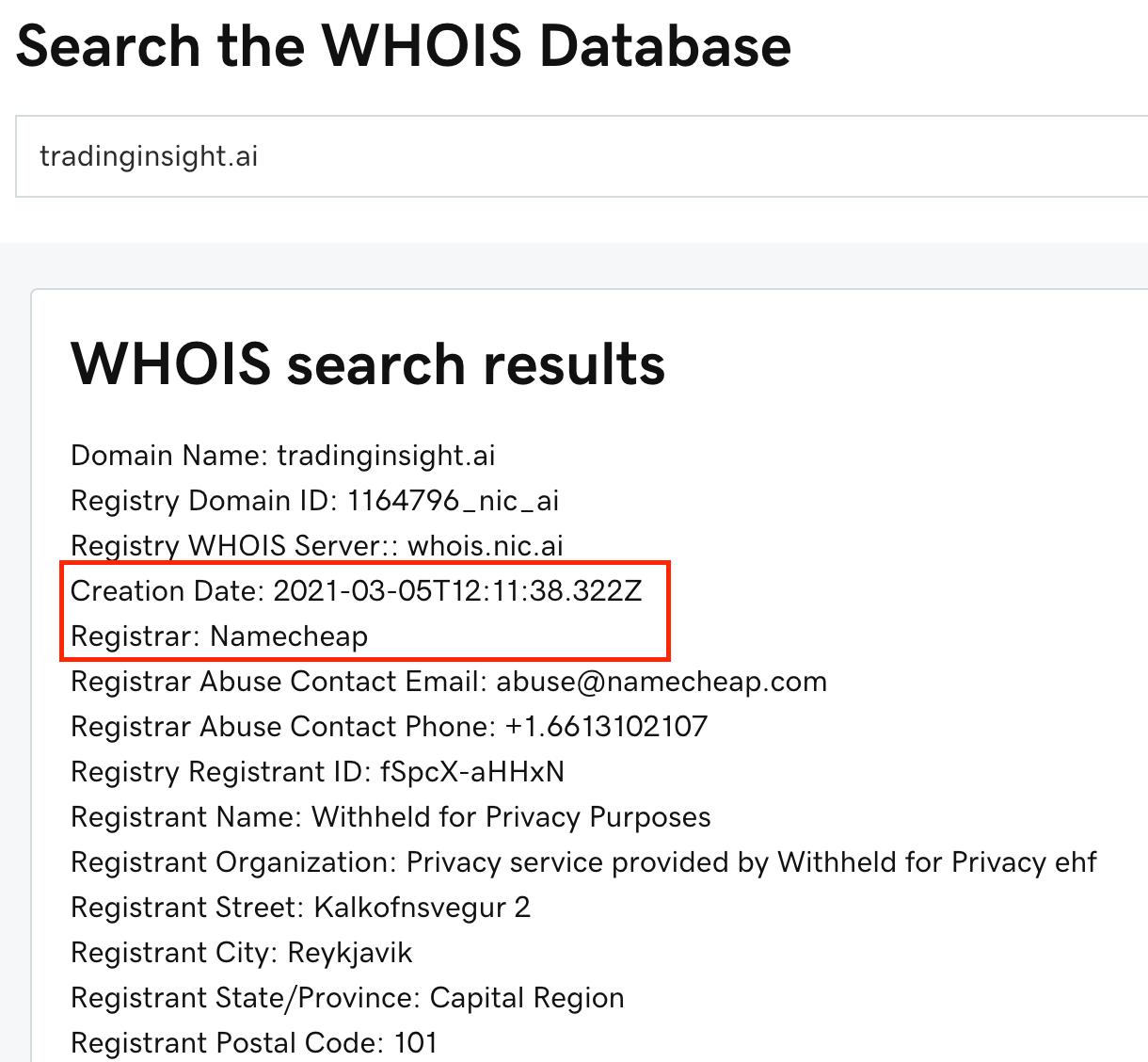 Trading Insight AI domain