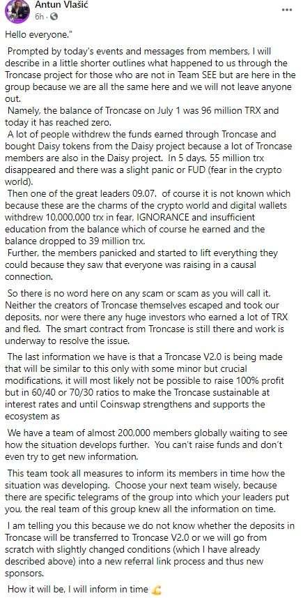 Troncase-exit-scammed