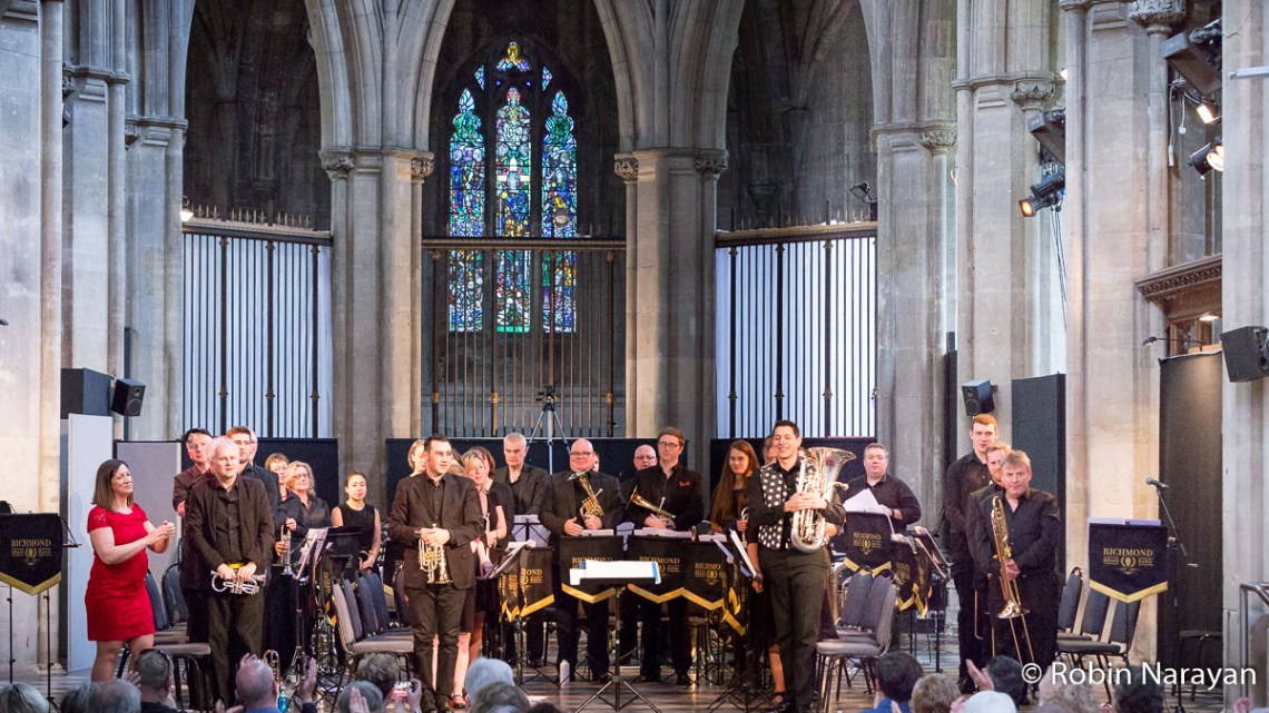 The Richmond Brass Band at the 'Made to Measure' concert, May 2018.