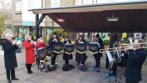 Richmond Brass Band ensemble at Church Street