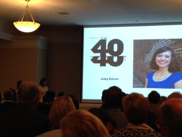 Joley named Top 40 under 40, October 2014