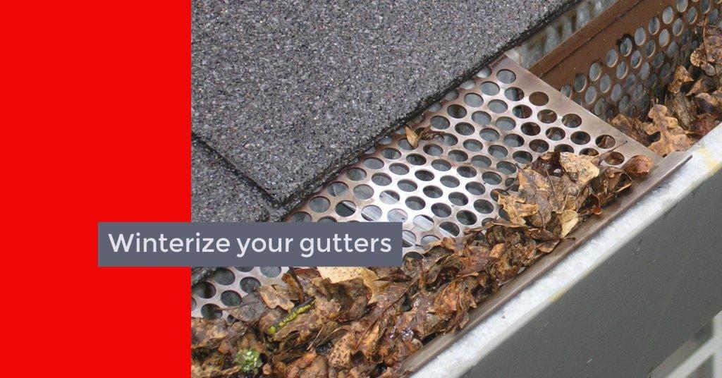 Winterize your gutters richmond va