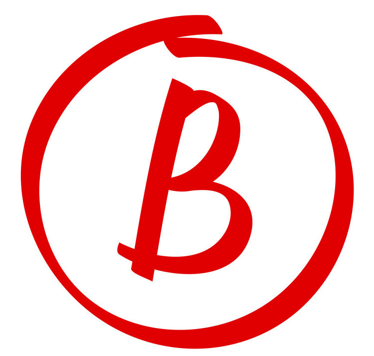 Letter B in a circle