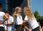 blonde girls dancing