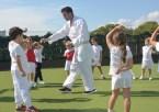 teaching karate