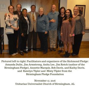 Representatives from the Birmingham Pledge and Richmond Pledge meet