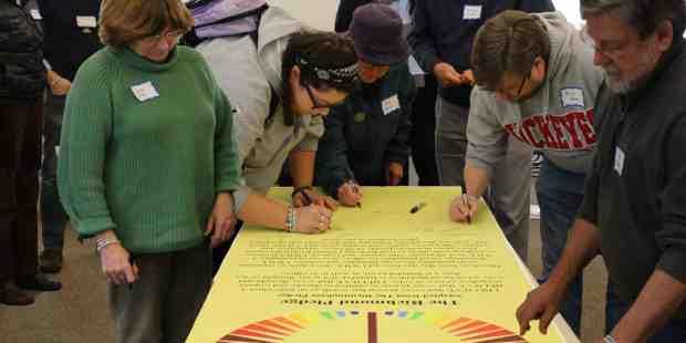 UUCC Pledge signing