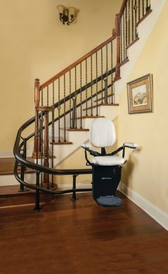 Harmar Csl500 Helix Curved Stair Lift – Stair Lift Companies Near | Staircase Companies Near Me | Stair Parts | Floating Staircase | Spiral Staircase | Stair Railing | Stair Lift
