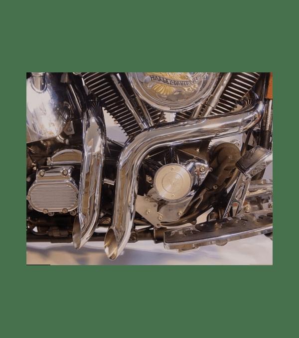 wyatt gatling laf exhaust header set for harley fxst 1984 2006 30 0544