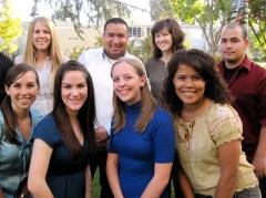 2009-10 Ambassadors (from top left) Leah (Rath) Grace, Jonathan Munoz, Celeste Pilegard, Daniel Cisneros, (bottom left) Lindsey (Hamilton) Yager, Cassidy Smith, Melissa Watkins, Daini (Vargas) Park.