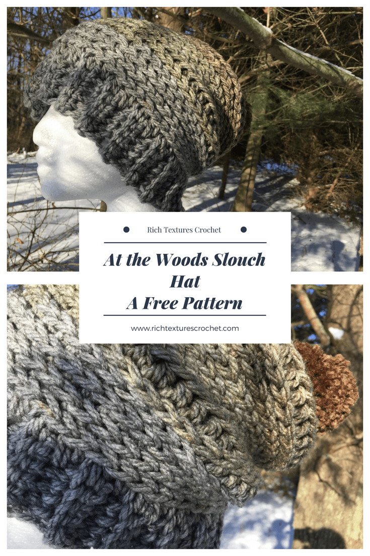 At The Woods Slouch Hat A Free Crochet Pattern Rich Textures Crochet