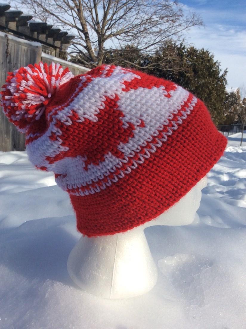 Maple Leaf Toque (hat!) - a free crochet pattern • Rich Textures Crochet