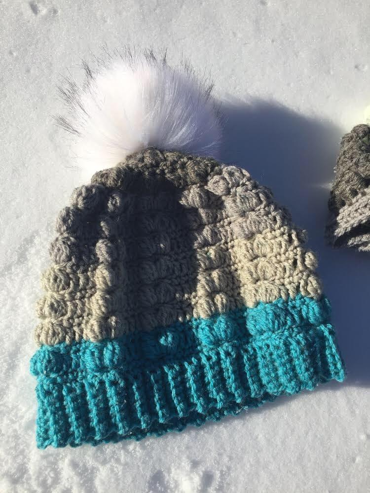 Popcorn Stitch Hat