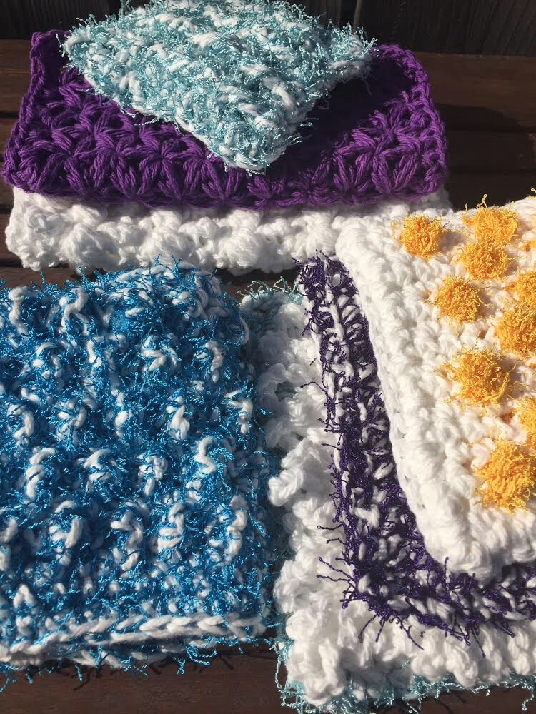 Spring Cleaning Free Pattern Wrap Up! Washcloths, Scrubbies and a ...