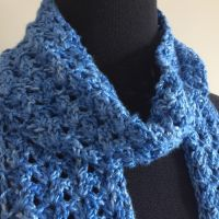 Blue Iris Scarf - A Free Crochet Pattern