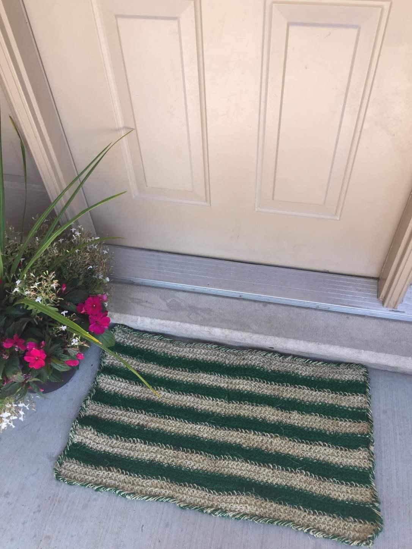 twine door mat