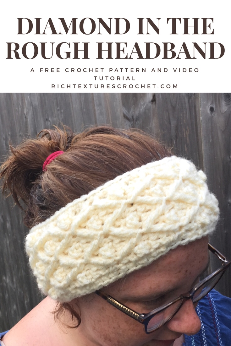 Diamond In The Rough Free Crochet Headband Pattern Rich Textures