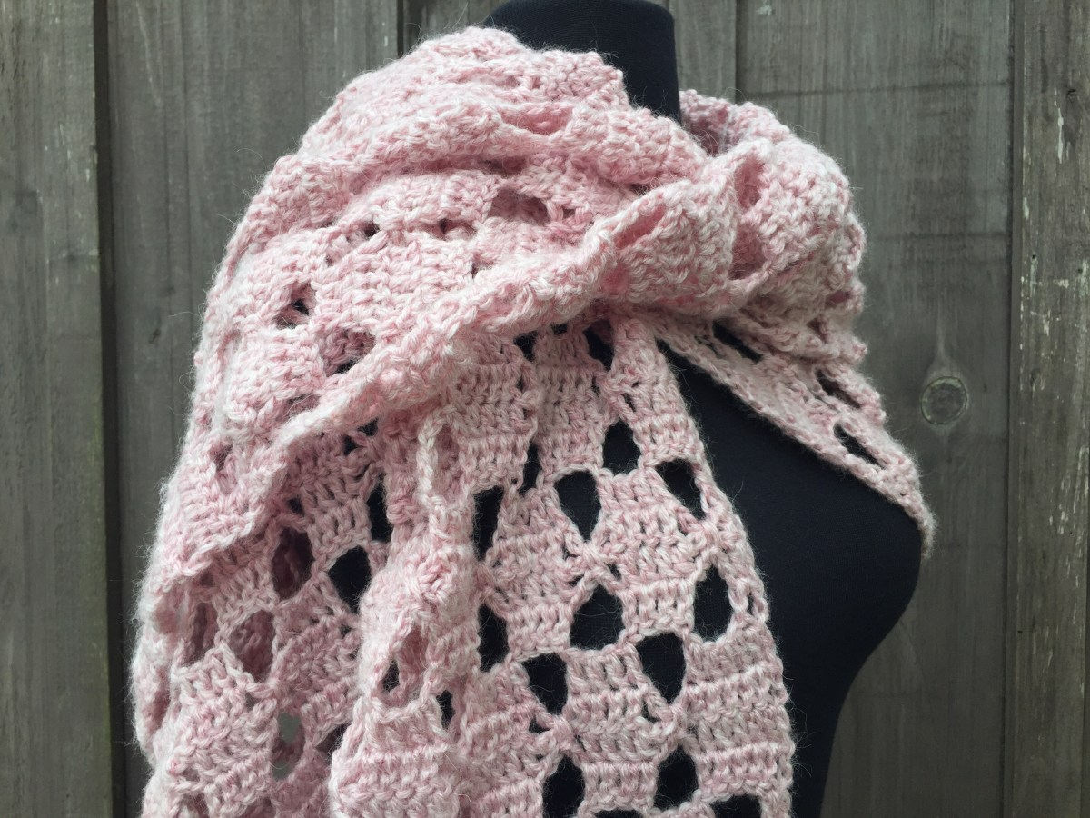 Touch of Blush Shawl - Free Crochet Pattern