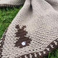 Bunny Silhouette Baby Blanket - Free Crochet Pattern