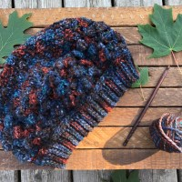 Falling Leaves Slouch Hat Free Crochet Pattern